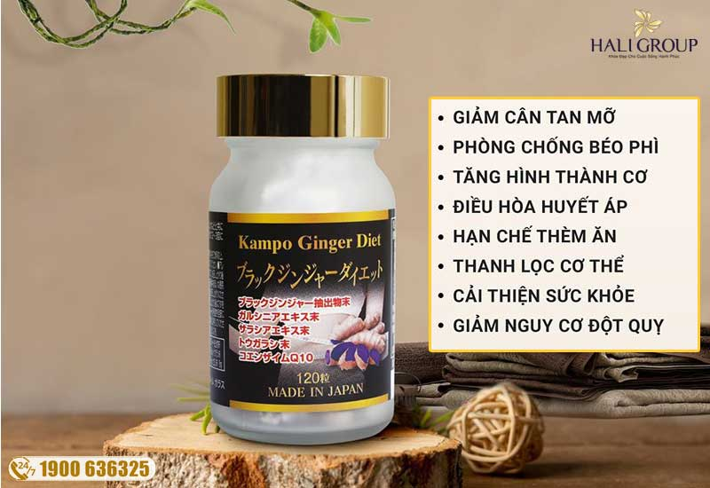 Công dụng của Kampo Ginger Diet