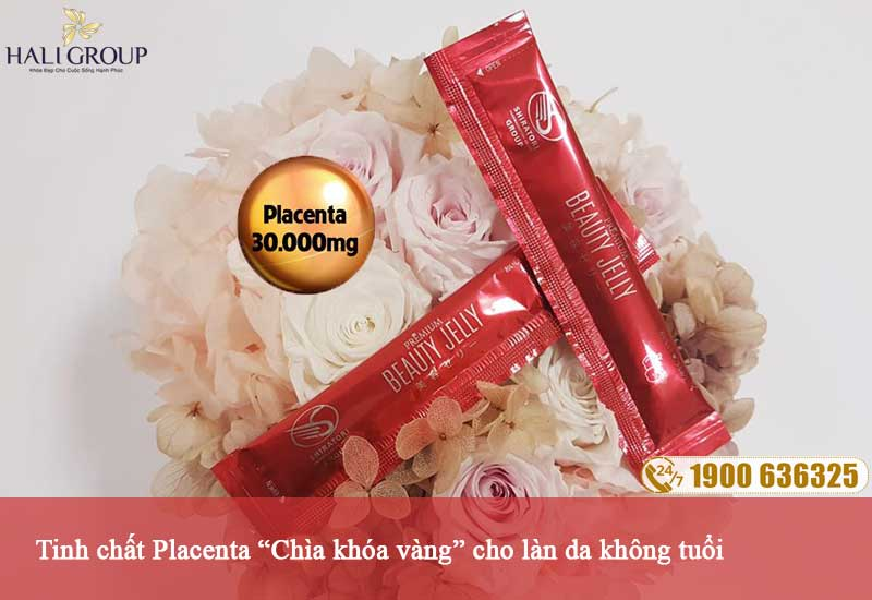Chiết xuất placenta có trong thạch collagen beauty jelly